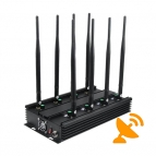 Ultimate 8-Band Wireless Signal Jammer Terminator for Mobile Phone, WiFi Bluetooth, LoJack, UHF, VHF, GPS