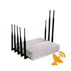 12W 8 Antenna Cell Phone & GPS & Wifi & VHF UHF Jammer Blocker